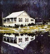 31 - Peter Doig - Camp Forestia, 1996, oil on canvas, 170x170cm